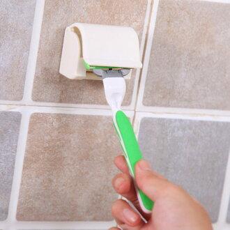 ●MY COLOR●浴室黏貼式刮鬍刀收納架 剃鬚刀 除毛 剃刀 懸掛 瀝乾 通風 衛生【N172】