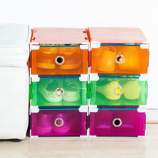 ●MYCOLOR●可疊加抽屜式鞋盒(單入)抽取雜物收納玩具女鞋童鞋組合DIY防塵【N167】