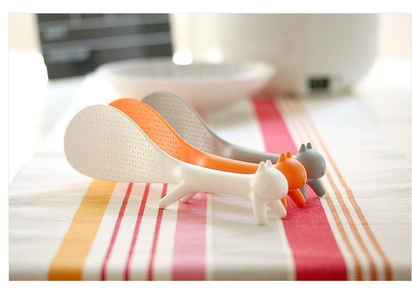 ●MY COLOR●廚房小物 創意立體松鼠造型 可立式飯勺 飯匙 造型飯匙【L10】