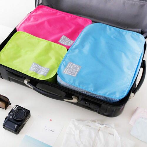●MY COLOR●旅遊旅行 化妝包 包中包 收納包 旅行組 防水收納袋 網狀透氣收納袋 鞋袋【T12】