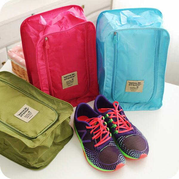 ●MY COLOR●旅行鞋袋 鞋盒 收納袋 收納箱 家居 韓版 旅行收納組 防水 鞋子 收納包【S02】