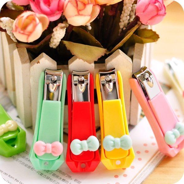 ●MY COLOR●韓國熱銷甜美糖果色可愛蝴蝶結指甲刀 指甲鉗 指甲剪 可掛 可愛造型指甲剪 【H05】