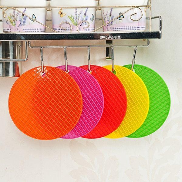 ●MY COLOR●創意糖果色創意防水 桌墊隔熱墊 矽膠餐墊 盤墊 鍋碗墊 隔熱墊 鍋碗防滑 【L123】