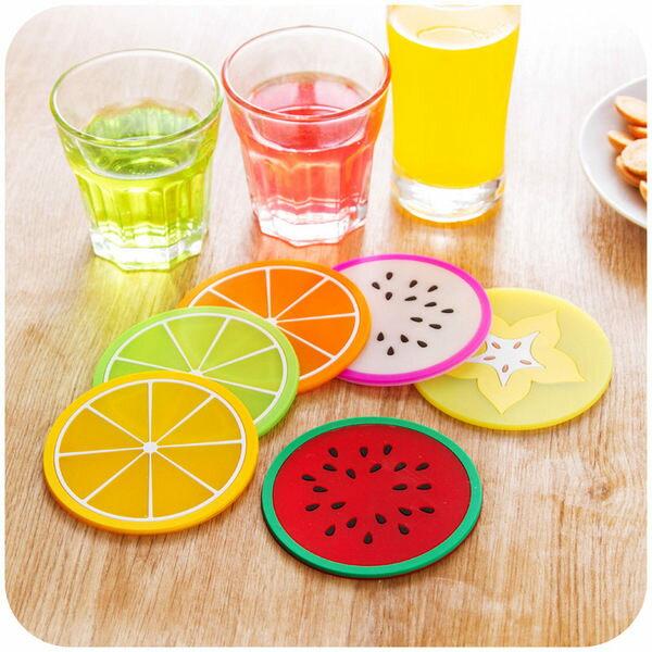 ●MY COLOR●創意水果造型杯墊 防滑墊 隔熱墊 矽膠杯墊 止滑墊  造型隔熱杯墊 【L137】