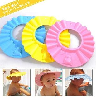 ●MYCOLOR●嬰童防水洗髮帽柔軟高彈性理髮帽幼兒專用洗頭戲水沐浴浴帽兒童用品【Q08】