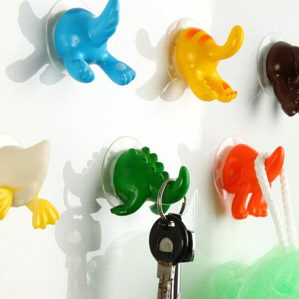●MYCOLOR●卡通動物尾巴吸盤掛勾屁股造型創意可愛居家無痕韓國小物掛勾【Q20】