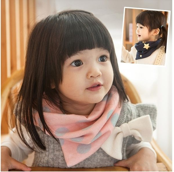 ●MY COLOR●兒童潮流元素圖案脖圍 圍巾 脖套 加厚 保暖 披肩 毛線 防風 防寒 溫暖 禦寒 【F06】