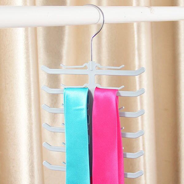 ●MY COLOR●魚骨造型領帶架 多用途衣架 圍巾架 領帶架 絲巾架 皮帶架 雜物架 衣物收?【L56】