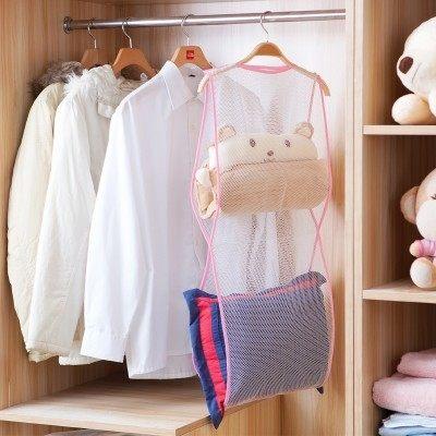 ●MY COLOR●創意多用途晾曬網袋 洗曬 晾衣架 好收納 曬枕頭 曬靠墊 折疊 輕巧 便攜【L17-4】