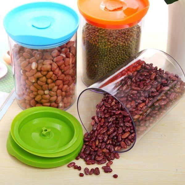 抽拉式密封儲物罐 廚房 多用 可疊加 真空 茶葉 果蔬 防蟲 防潮 食材 ♚MY COLOR♚【L026-3】