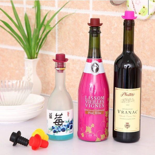 ●MY COLOR●小禮帽造型保鮮酒瓶塞 紅酒 調味瓶 食品 瓶罐 米酒白酒 軟木塞 多功能【M46-1】