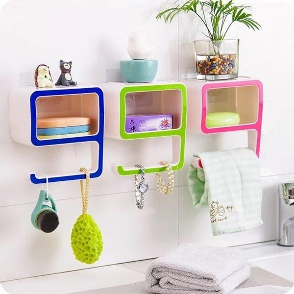 ●MYCOLOR●創意數字9置物架收納香皂盒多功能壁貼收納盒置物箱居家小物【R35】