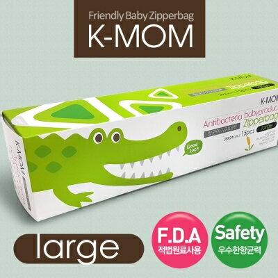 【安琪兒】韓國【MOTHER-K】動物家族抗菌儲存袋-鱷魚喬治(L) - 限時優惠好康折扣