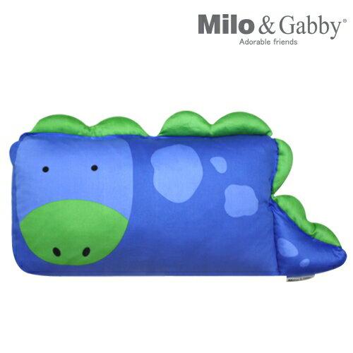 ★衛立兒生活館★Milo & Gabby 動物好朋友-mini枕頭套(DYLAN恐龍)#8971