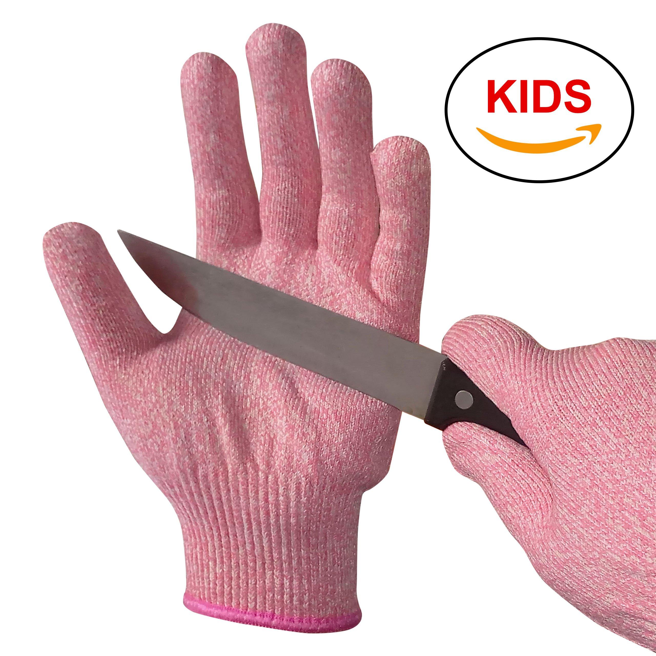 EVRIDWEAR Kid Sized Cut Resistant Work Gloves for Kitchen Use, Crafts, DIY,  Garden and Yard works. Children Food Grade Kevlar Safety Gloves for Hand ...