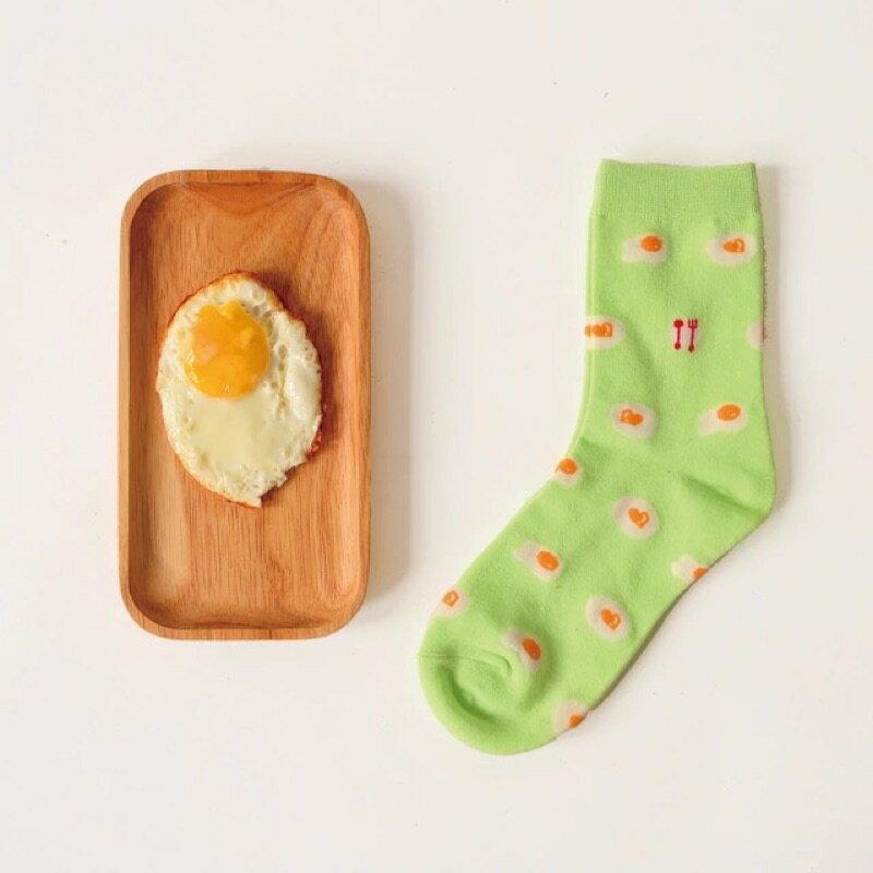 【開幕促銷】Caramella 綠色荷包蛋 中筒襪 短襪 船襪 隱形襪 五指襪 文青情侶 運動穿搭 阿華有事嗎 C0020-2