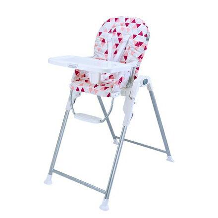 美瑞莎Merissa 兒童用高腳椅-粉紅三角星【悅兒園婦幼生活館】