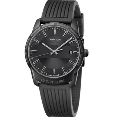 Calvinklein卡文克萊時尚伸展系列(K8R114D1)光影簡約腕錶黑42mm