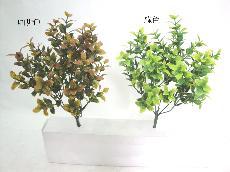 ★超低價★PVC 迷你薄荷葉-咖啡色/ 人造花 空間 景觀 佈置 造景