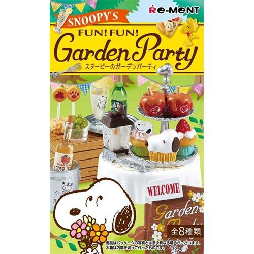 盒裝8款【日本進口】史努比的花園派對史努比Snoopy花園派對盒玩擺飾Re-ment-250458