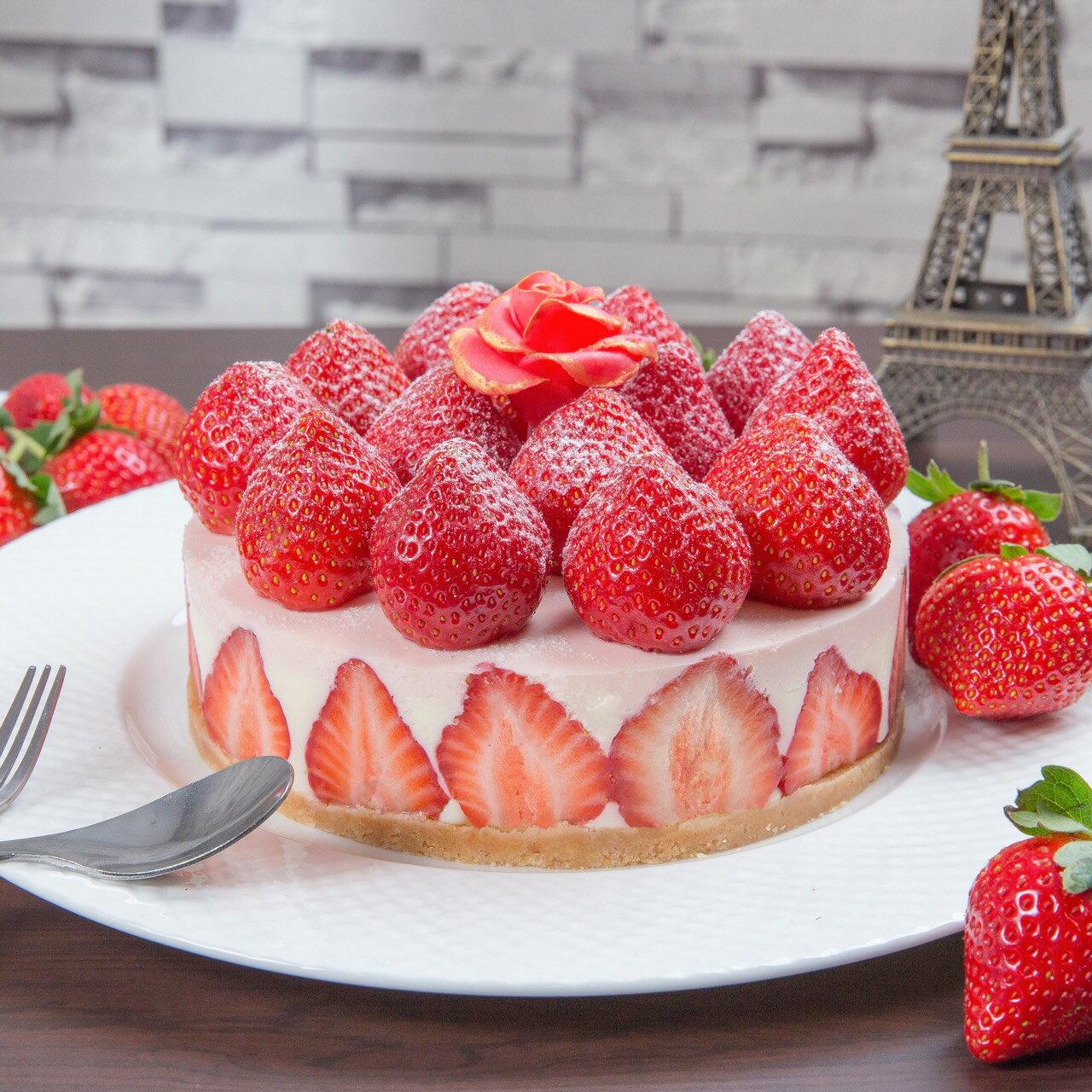 草莓蛋糕極致奢華 超大顆草莓生乳酪 6吋/8吋(出貨日為11/15-3/31日)