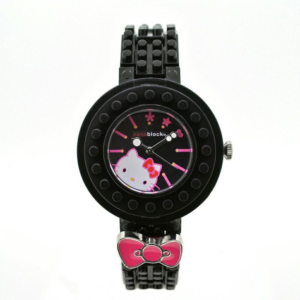 nanoblock 河田積木手錶 KITTY黑色