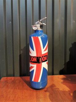 法國 FIRE DESIGN 乾粉型滅火器-London Flag bleu