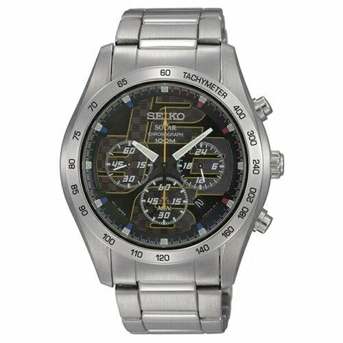 SSEIKO Criteria 分秒必爭太陽能三眼計時男腕錶/藍面/41mm/V175-0AN0D