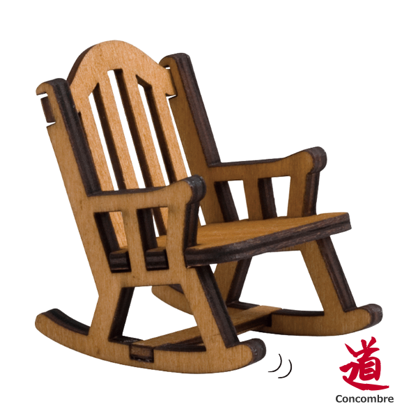 Decole 日本擺設玩偶 / 公仔 / 道具 / 配件 - Concombre 木搖椅 ( TG-40115 ) 現貨