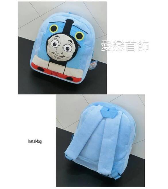 正版授權商品*湯瑪士小火車兒童後背包/書包 前面的火車頭可裝小東西 非常實用 尺寸:32×29cm