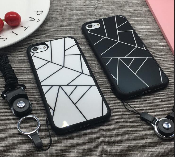 IPHONE8 IPHONE7 韓國 幾何圖形款 軟邊手機殼 全機保護 不傷手機 帶掛繩孔