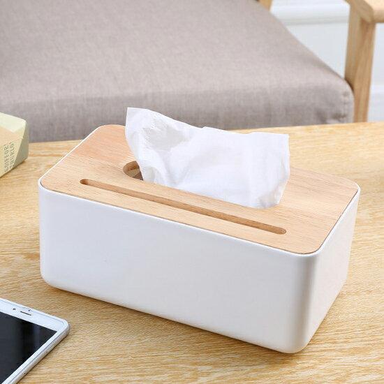♚MYCOLOR♚橡木蓋凹槽面紙盒抽取桌面抽紙衛生紙餐巾紙巾雜物小物收納分類【A11-3】
