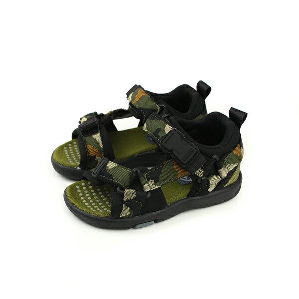 MoonStar涼鞋墨綠迷彩中童童鞋MSC21943no140
