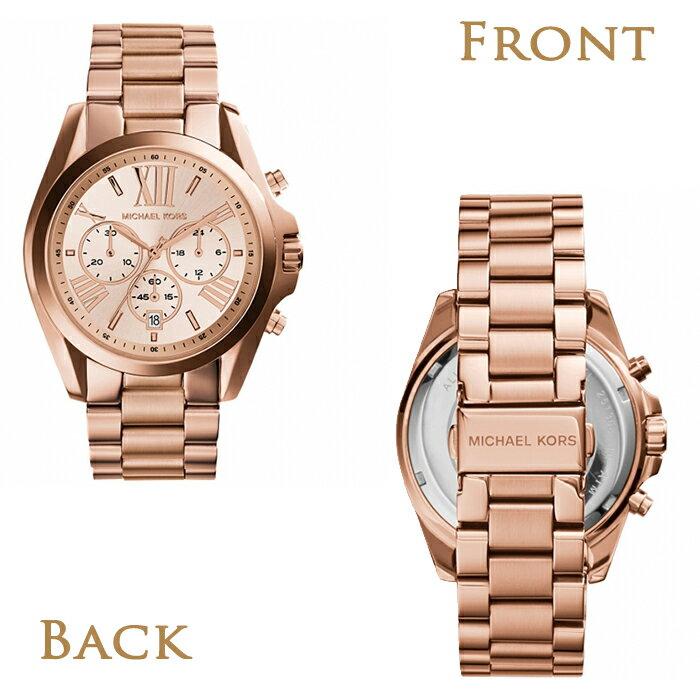 美國Outlet正品代購 MichaelKors MK 羅馬數字錶盤 玫瑰金 三眼計時 女錶手錶腕錶 MK5503