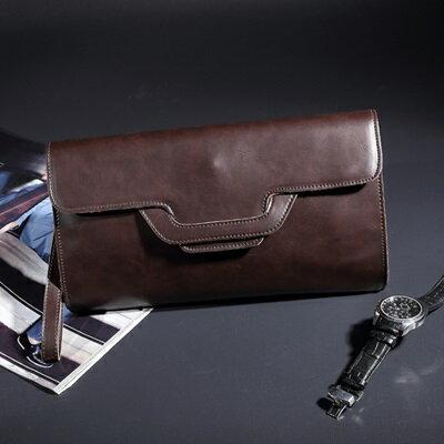 手拿包純色手抓包-英倫紳士商務休閒男包包2色73sd39【獨家進口】【米蘭精品】