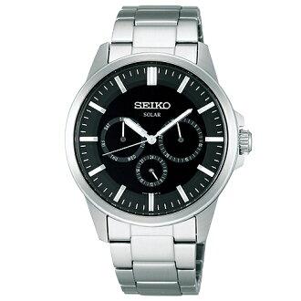 SEIKO SOLAR 優雅氣質太陽能鍊帶錶/全日曆V14J-0AX0D