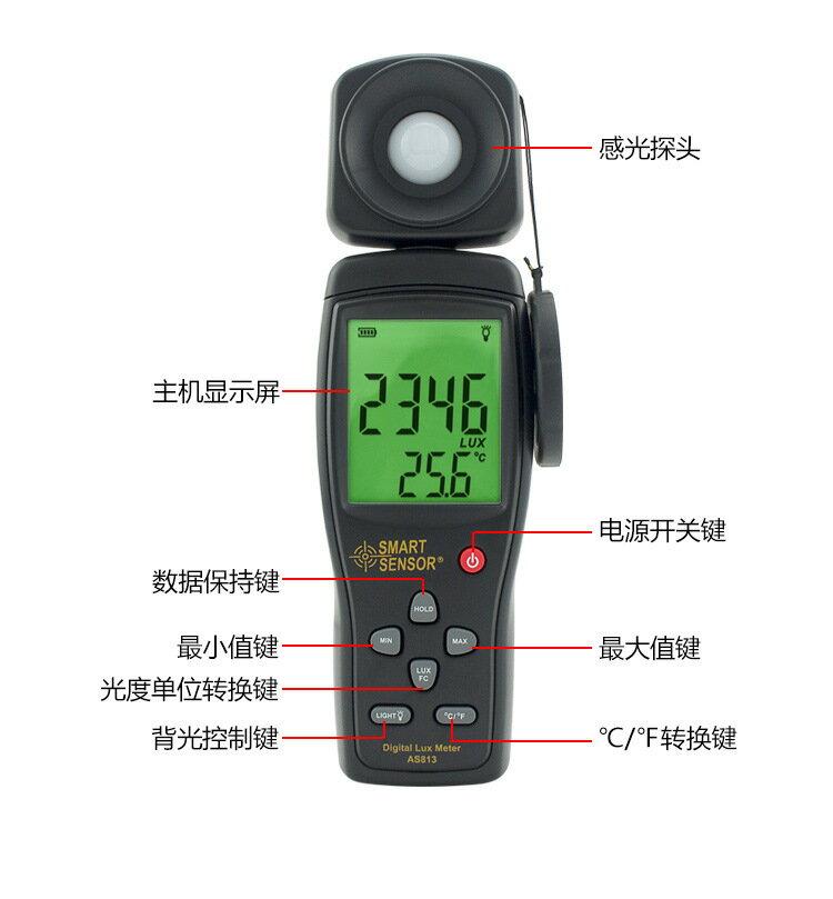 【照度計】數字光照度計高精度光亮度儀 照度儀 便攜式光度亮度檢測儀 聖誕禮物