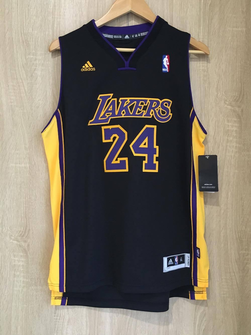 【蟹老闆】Adidas 青年版 球衣 好萊塢 洛杉磯湖人Lakers 24 Kobe Bryant 黑曼巴 小飛俠 傳奇球星 NBA總冠軍MVP NBA年度MVP NBA明星賽MVP NBA得分王 男女可穿