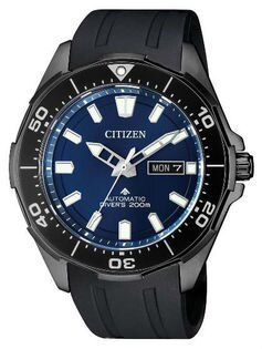 CITIZEN星辰錶NY0075-12L時尚光動能專業潛水腕錶黑43.5mm