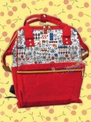 【真愛日本】18100300009 日本限定景品寬口後背包-KT點心紅 凱蒂貓 kitty 後背包 書包 提袋 日本限定