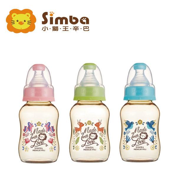辛巴simba桃樂絲PPSU標準葫蘆小奶瓶果綠天藍蜜粉150ml『121婦嬰用品館』