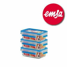 德國EMSA玻璃保鮮盒 三件組#514170