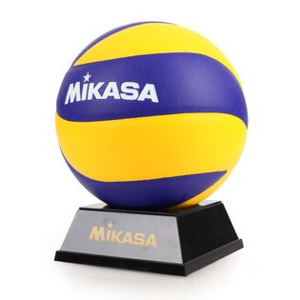 MIKASA紀念皮製排球#2(2號球附球座【99301828】≡排汗專家≡