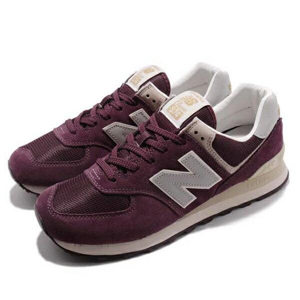 Shoestw【ML574VLB】NEW BALANCE NB574 運動鞋 Wide 麂皮 酒紅卡其 男生尺寸 1