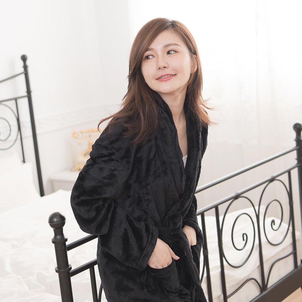 M / L / XL法蘭絨男女浴袍睡袍(經典紅 / 經典白 / 經典黑) 7