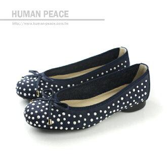 HUMAN PEACE MIT(台灣製) 娃娃鞋 深藍色 女鞋 no477