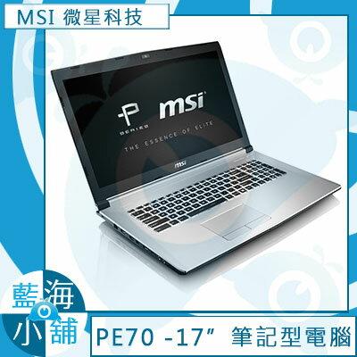 MSI 微星PE70 6QE-092TW 17吋筆記型電腦 (GTX960M獨顯xM.2 SSD混碟Core i7-6700HQ四核心處理器)
