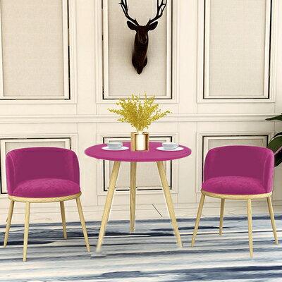 休閒桌椅組合 家用網紅靠背椅凳子休閒陽台小圓桌椅簡約奶茶店洽談一桌兩椅組合『MY3759』