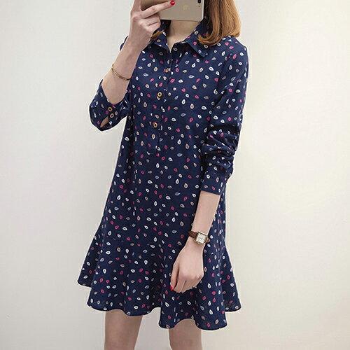 加厚大碼中長款連身裙(2色XL~5XL)*ORead* 1