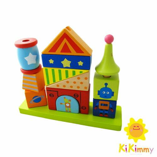 Kikimmy木製機器人積木組K308-R【德芳保健藥妝】